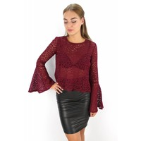 Bordeaux flared top