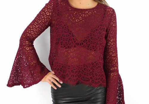 Eight Bordeaux flared top