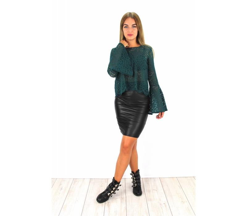 Leather skirt 22567