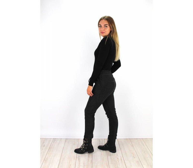 Black rib pants 2107
