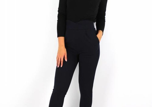 Vera & Lucy Blue marine pants high waist