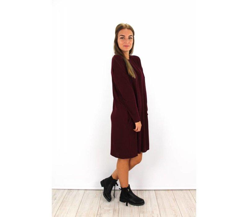 Bordeaux sweater dress M4-297