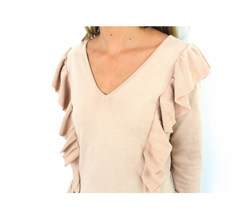 Old pink sweater H1286