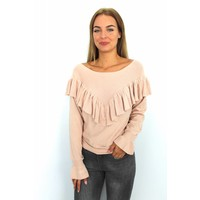Old pink sweater pearl JP-1596