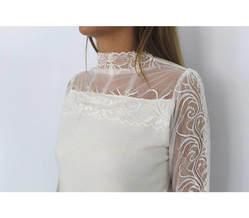 Off white jumper lace top MC6506