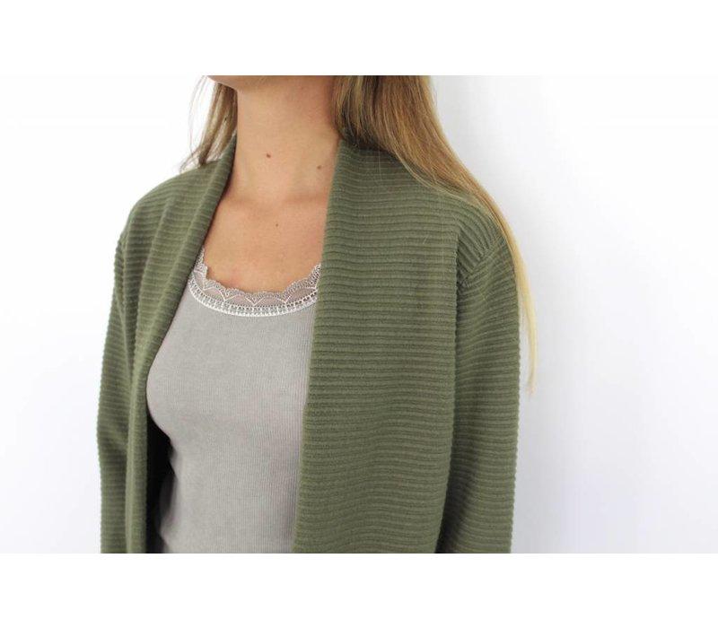 Green solo cardigan