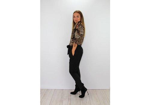 Black pants silk look