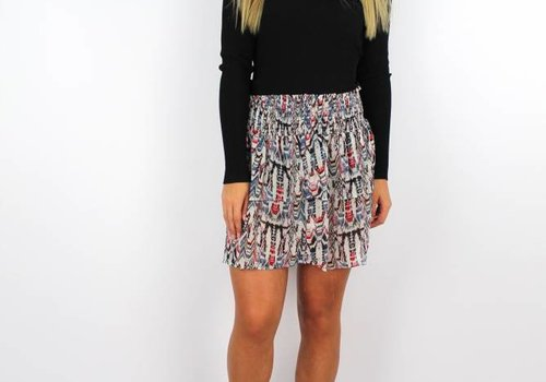 JCL skirt volants blue/red