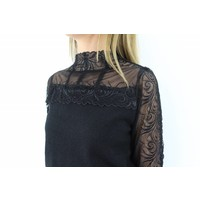 Black jumper lace col 6506