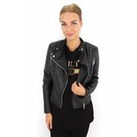Black leather look jacket 1621
