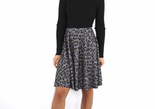 F.Fashion Leopard skirt grey