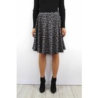 Leopard skirt grey