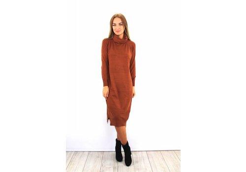 Long camel col dress