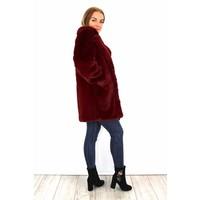 Lovely fluffy Francesca coat bordeaux