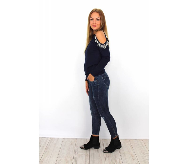 Jeans ankle zip 9251