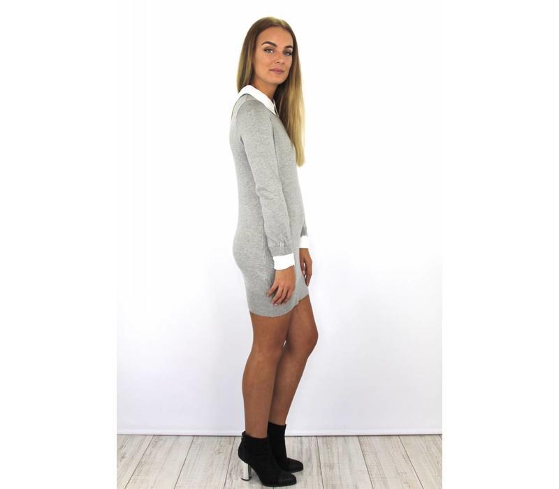 Grey collar dress