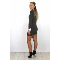 Kaki collar dress