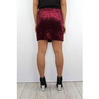 Bordeaux velvet skirt 2138