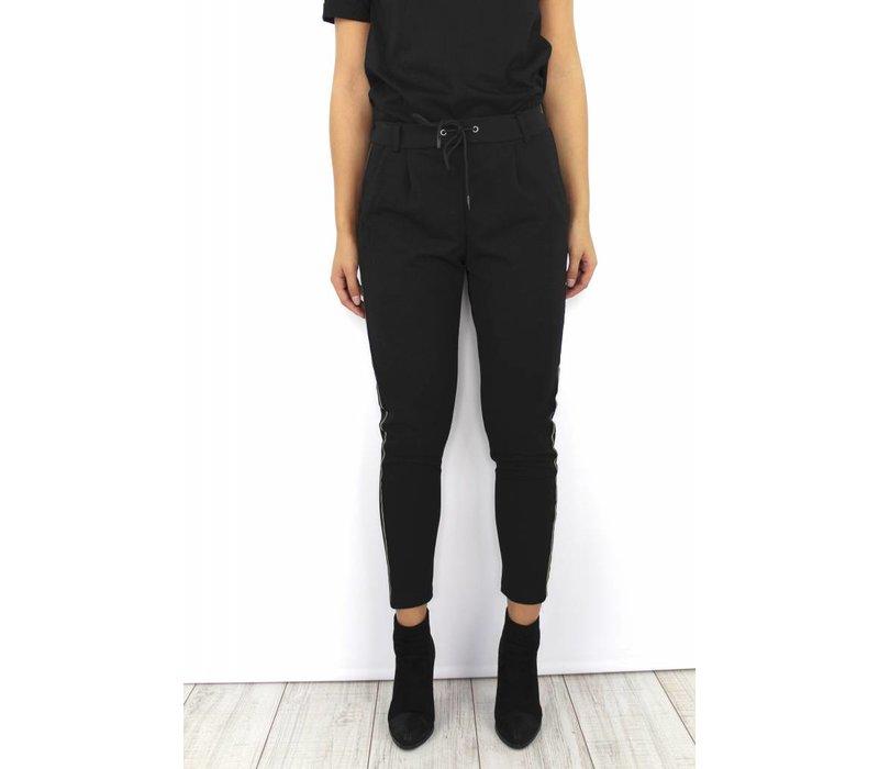 Black pants gold stripe 5960