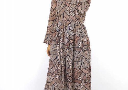 By Clara Long print dress