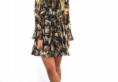 By Clara Black/brown flower dress