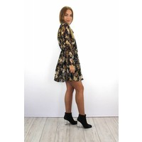Black/brown flower dress