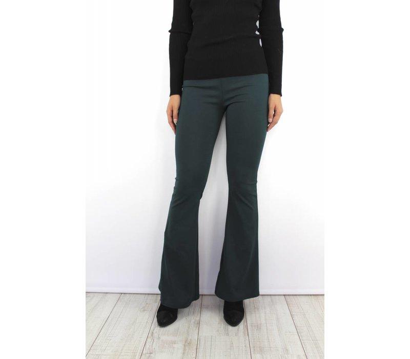 Green flared pants 1723