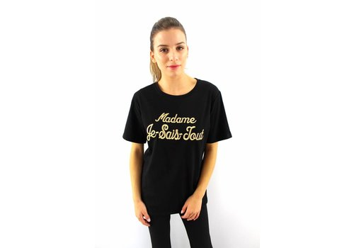 T-shirt black Madame Je Sais Tout