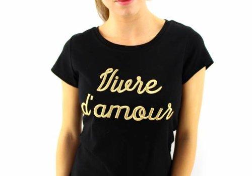 T-shirt black Vivre d'amour
