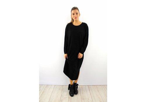 Long Kaylla black sweater dress