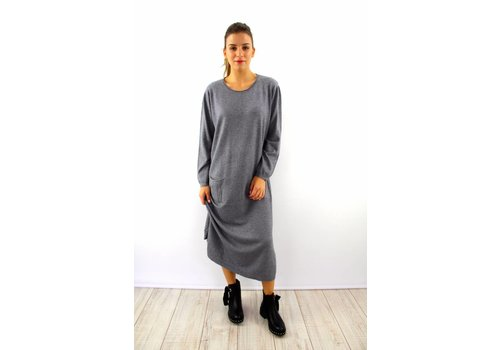 Long Kaylla grey sweater dress