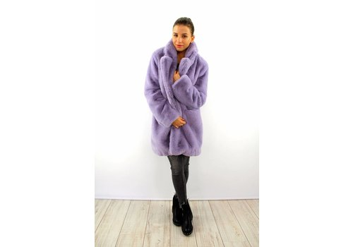 Lovely fluffy Francesca coat Lila