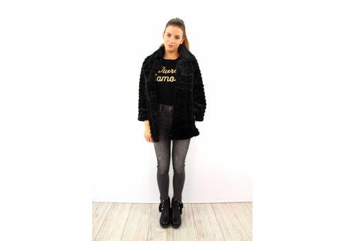 Lovely fluffy I&M coat black