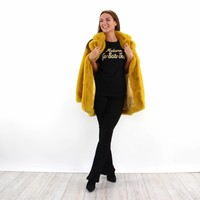 Fake fur coat 8032 Y