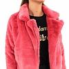 Fake fur coat 8065 P