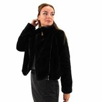 Fake fur jacket black