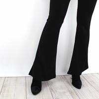 Black flared pants