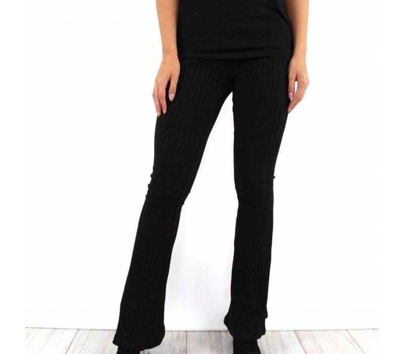 Black flare pants 1841