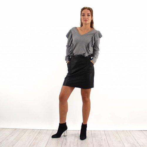 Akoz Black leather look skirt