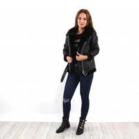 Black pilot jacket Romerly V22