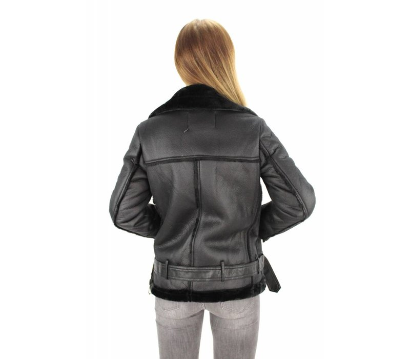 Black pilot jacket Giorgia WS905