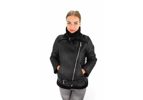 Black pilot jacket Giorgia