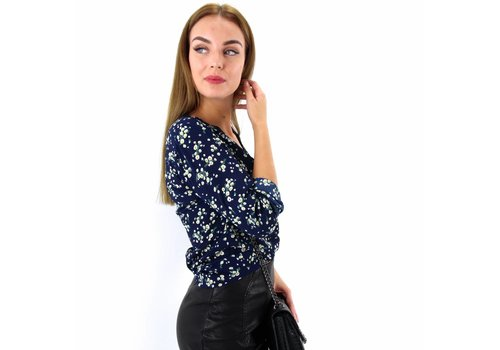 Marine flower blouse