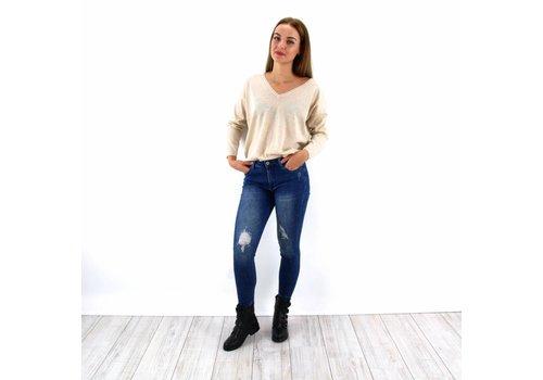 Queen Hearts jeans blue Paris