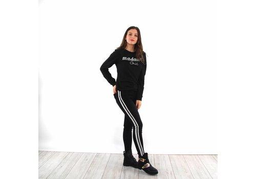 Black jeans double stripe