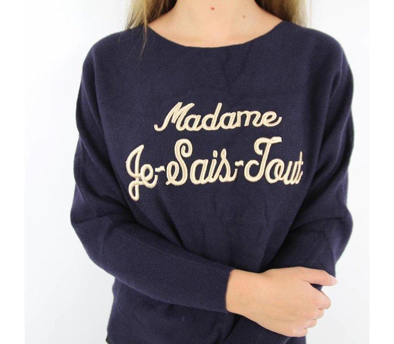 Madame Je Sais Tout dark blue/gold MC6511