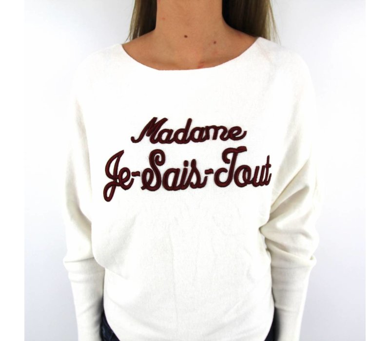 Madame Je Sais Tout white/red MC6511