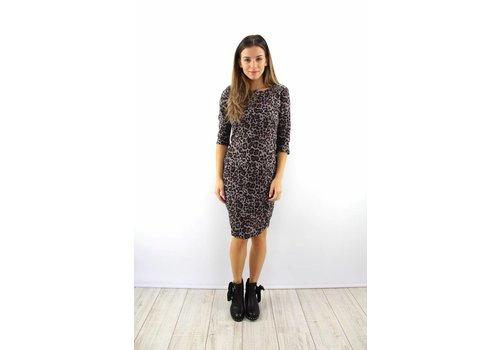 Leopard dress grey
