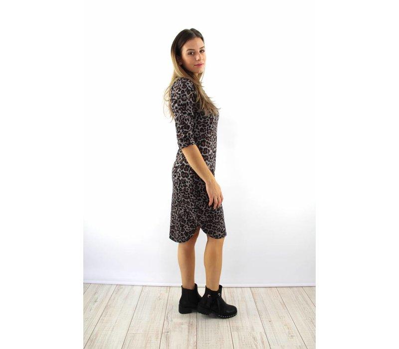 Leopard dress grey 1501-2
