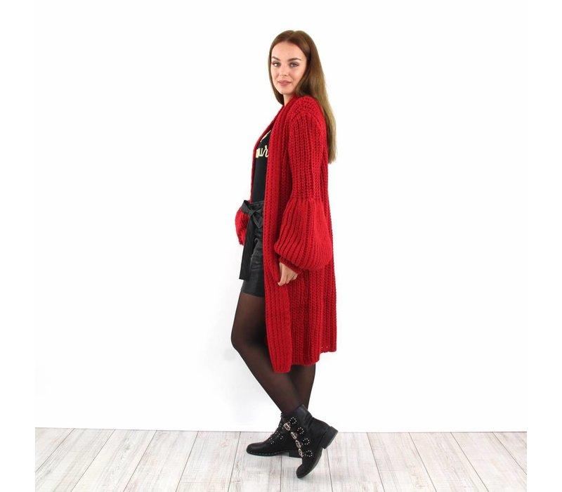 Cardigan ByDaan long red